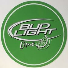 "Bud Light Lime 14"" Round Metal Sign"