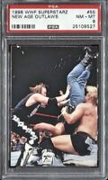 New Age Outlaws DX 1998 Comic Images DuoCards WWF Superstarz # 55 PSA 8 NM MT