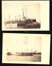 Massena French Battleship Military in Uruguay port real photo RPPC postcard 1902