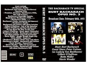 BURT BACHARACH-TV SPECIAL'73-DVD--BETTE MIDLER-STEVIE WONDER-GILBERT O SULLIVAN