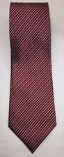 "NWOT Axcess Men Red Black Gold Thin Striped 100% Silk Neck Tie - 58"" Length"