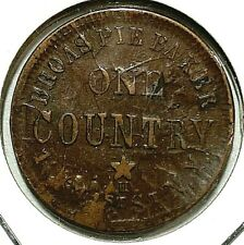 Civil War Store Card 1863 Nyc, Ny - Broas Pie Baker 630M-12ao Xf-Au