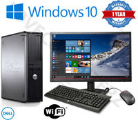 DELL/HP DUAL CORE DESKTOP TOWER PC & TFT COMPUTER SYSTEM WINDOWS 10,8GB,250GB