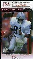 Tim Brown 1992 Action Packed Autograph Jsa Coa Authentic Hand Signed