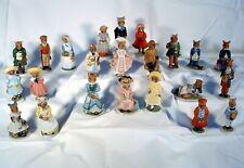 Lot of 23 Franklin Mint Porcelain Woodhouse Mouse Figurines