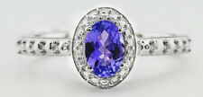 GENUINE 0.65 Cts AAA TANZANITE RING .925 Sterling Silver *** NEW WITH TAG ***