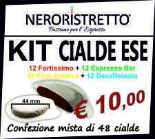 KIT ASSAGGIO 48 Cialde capsule caffe CARTA FILTRO ESE 44mm GUSTI ASSORTITI