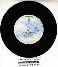 "JACKSON BROWNE  Somebody's Baby 7"" 45 rpm vinyl record + juke box title strip"