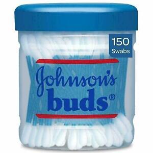 JOHNSON'S Buds (Bâtons Boîte Emballage) Et Bâton Paquet & Pot 150 Gaze