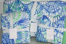 New Pottery Barn Lilly Pulitzer Quilt & Shams Oh Shello & Deep Dive Full Queen