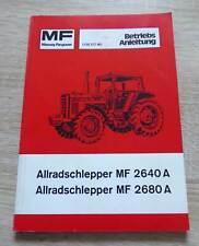 Massey Ferguson Schlepper 2640A + 2650A Anleitung