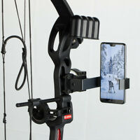 Archery Smartphone Camera Bow Mount Phone Holder f/ Recurve Compound Bow Hunting