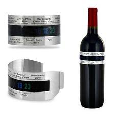 Acero Inoxidable LCD Vino Botella Pulsera Termómetro Medidor de Temperatura