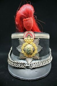 Pre WW1 Danish Guard Cavalry Officer Shako Helmet c1900