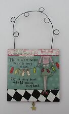 t Peace Plaque wish in every nation joy in heart CURLY GIRL HANGING PLAQUE