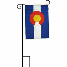 """12x18 12""""x18"""" State of Colorado Sleeved w/ Garden Stand Flag"""