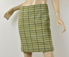 $230 Theory Soft Wool & Angora Frieda C Box Tweed Green Woven Pencil Skirt S 6