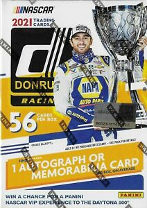 2021 Donruss NASCAR Racing Blaster Box Sealed 1 Auto or Memorabilia CHECKERS