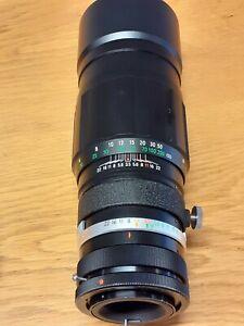 Soligor 200mm f/3.5 telescopic Camera Lens. Fits Canon Mount