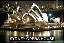 SOUVENIR FRIDGE MAGNET of SYDNEY OPERA HOUSE AUSTRALIA