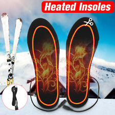 Usb Charging Heated Insoles Foot Warming Cut-to-Fit Electric Heated Shoes Pad Us
