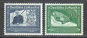 Germany 1938 MNH Mi 669-670 Sc C59-C60 Ferdinand von Zeppelin **