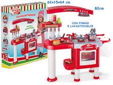 cucina giocattolo con forno e lavastoviglie 35 accessori bambina teorema