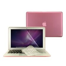 "3 in 1 Rubberized PINK Case for Macbook AIR 13"" A1369 + Key Cover + LCD Screen"
