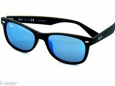 RAY BAN kids sunglasses RJ 9052S MATTE BLACK/BLUE MIRROR 100S55 JR 9052 FREE S/H