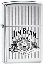 "ZIPPO JIM BEAM ""Stripes"" High polished Chrome *NEU* OVP, TOP!!"