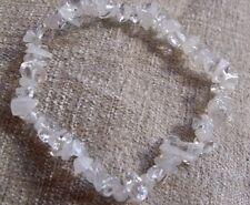 Quartz Transparent & Moonstone Chip Bead Healing Crystal Bracelet