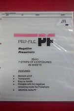 Pro-File Negative Sleeves- Archival Quality BNIB