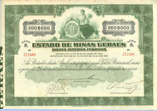 Estado de Minas Geraes > 1934 Minas Gerais Brazil internal debt bond certificate