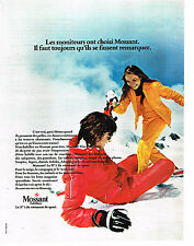 PUBLICITE ADVERTISING 014   1973   MOSSANT  vetement de sport de ski