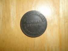 New Zealand ND 1/2 Penny Token coin D Anderson Wellington Fine nice RARE