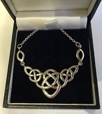 STERLING SILVER  GAELIC STYLE PENDANT AND CHAIN.