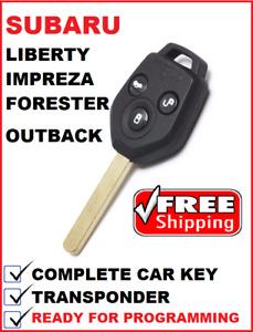 TRANSPONDER REMOTE CAR KEY suitable for SUBARU OUTBACK LIBERTY IMPREZA FORESTER