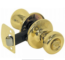 Mobile Home/RV Interior Privacy Polished Brass Door Lock by Fastec