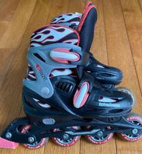 Roller Derby Blaze Youth Adjustable Inline Skate Size 3-6 Red & Black Flames