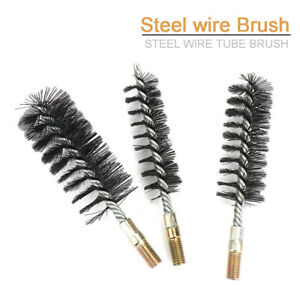 Cylinder Steel Wire Tube Pipe Cleaning Brush Rotary Polishing Rotary Tool18-75mm