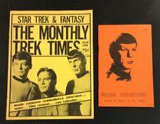 STAR TREK FANZINE LOT VULCAN REFLECTIONS ESSAY MONTHLY TIMES SPOCK KIRK 1975