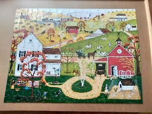 """BITS AND PIECES 300 PIECE PUZZLE - FALL MAIL CALL 18"""" X 24"""" J. HOLODOOK COMPLETE"""