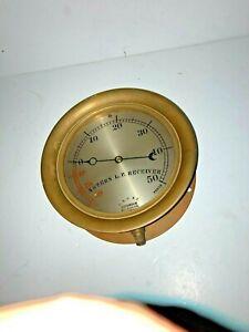 Antique Brass Astern LP Receiver Vacuum Pressure Steam Gauge Nautical