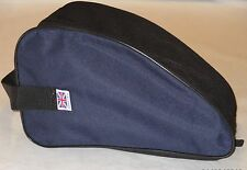 HEAVY DUTY NAVY SHOE  BAG WALKING , HIKING, SPORTS, BOOTS, SHOES   Made in UK