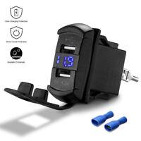 12V UTV ATV Car Charger Dual USB Socket Switch LED Headlight For Can AM Polaris
