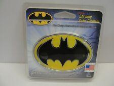 New Elektroplate Batman Oval Chrome Auto Emblem