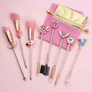 Card Captor Sakura Cosplay Makeup Brushes Set Cosmetic Brush Kits Tool Set New