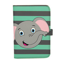 Children Elephant PU Leather Passport Cover Wallet ID Travel Protector Kids