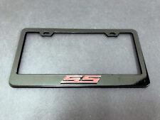 "1pc 3D ""SS"" LOGO Black Metal License Plate Frame Holder"