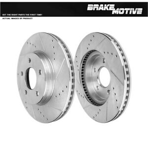 Front Drill And Slot Brake Rotors For 2005 2006 Chevy Equinox Torrent Saturn Vue